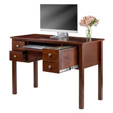 amazoncom winsome emmett writing desk with pull out keyboard and