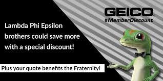 GEICO Partnership Lambda Phi Epsilon International Fraternity Inc Impressive Geico New Quote