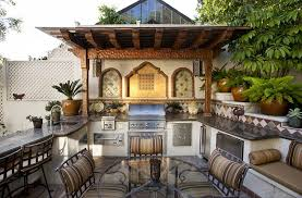 mediterranean style outdoor space with a beautiful kitchen design c c partners design