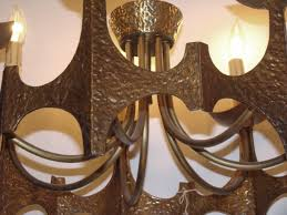 brutalist mid century modern chandelier style of paul evans