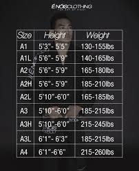 Ronin Gi Size Chart Pin On Bjj Gi Kimono