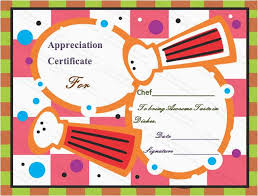 Cooking Certificate Template Adorable Blank Award Certificate Professional Cooking Award Certificate