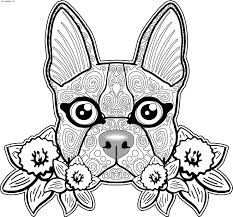 Sugar Skull Dog Coloring Pages