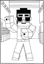 Coloring Pages Minecraft Coloring Pages Herobrine Sheets Color By
