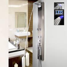 Edelstahl Led Duschpaneel Duschsäule Mit Wasserfall
