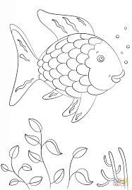 rainbow trout coloring page proge