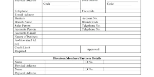 Free Generic Business Credit Application Form Free Generic Business