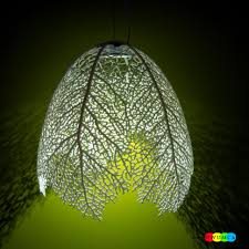 organic lighting fixtures. The Leaf Lamp Offers Wonderful Light Filtering Organic Lighting Fixtures N