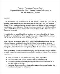 10 Sample Training Proposal Letters Pdf Word