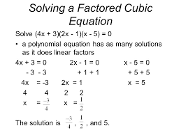 7 solving a factored cubic equation
