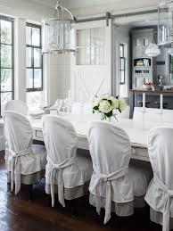 elegant dining room chair covers white slipcovered