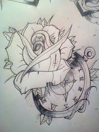 realistic ghost drawing. clock roses 25 sketch realistic ghost drawing
