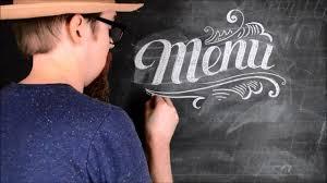 The Word Menu How To Write The Word Menu On A Chalkboard Chalkboard Lettering Tutorial Diy Chalk Art Lettering