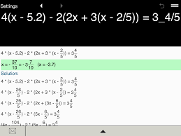 pleasing algebra solutions calculator for linear equation calculator android apps on google play