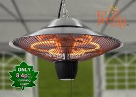 hanging patio heater. 1.5kW Hanging Ceiling Halogen Bulb Electric Infrared Patio Heater With 2 Heat Settings By Firefly