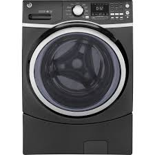 Ge Appliance Customer Service 800 Ge 45 Cu Ft Front Load Washer With Steam In Gray Energy Star