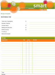 Recipe Template Word Download Word Recipe Templates For Free Formtemplate