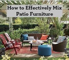 how to effectively mix patio furniture