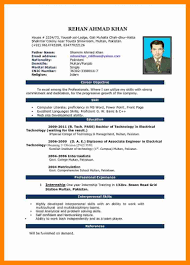Resume Format Word Resume Format Word 10 Cv Format Ms Word 2007