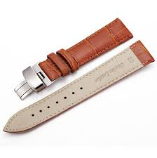 seiko compatible light brown croco leather replacement watch band strap steel erfly buckle 10314