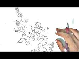 free hand drawing flowers flower design