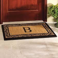 image of monogram doormat ideas simple
