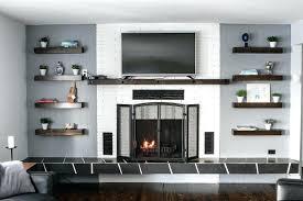 floating shelves near fireplace image of floating shelves next to fireplace floating wood shelves beside fireplace