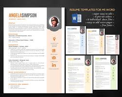 Stylish Word photo resume templates - Resumes