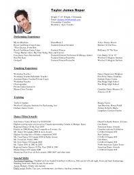 Dance Resume For Modern Dance Resume Sample Engne Euforic Co Child Template Free Resume