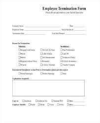 Letter Of Employment Samples Employee Termination Template Excel Form Entire Print Employment