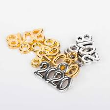 20Pcs Gold Silver Years Number 2017 2018 <b>2019</b> 2020 <b>Zinc</b> Alloy ...