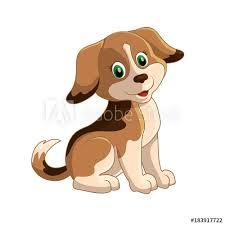 cute funny cartoon dogs vector puppy