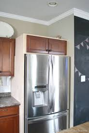 building in fridge cabinet at top