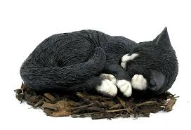 black cat statue garden inspirational sleeping black and white cat resin garden ornament 17 09