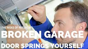 replacing garage door springs yourself
