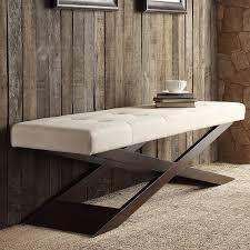 Bosworth Beige Linen Wood X Base Bench by iNSPIRE Q Classic - Free Shipping  Today - Overstock.com - 15502645