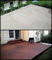 concrete slab patio. Concrete Slab Patio Makeover M