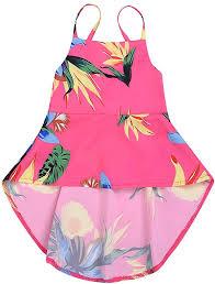 YOUNGER TREE Kid Baby <b>Girl Summer Dress</b> Sunflower <b>Backless</b> ...