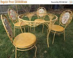 wrought iron vintage patio furniture. Wrought Iron Vintage Patio Furniture. Warm Gold Yellow Set Decorative Table Furniture E