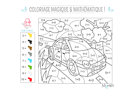Coloriage Magique Et Math Matique La Voiture Momes Net