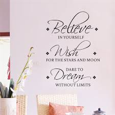 Believe In Yourself Quotes Fascinating Believe In Yourself Quotes Wall Stickers For Living Room Bedroom