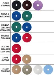 Burnishing Pad Color Chart Floor Buffing Pads Color