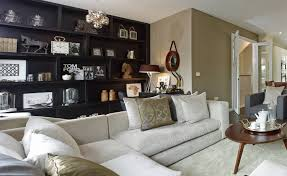 Living Room With Black Furniture Awesome Modern Bedroom Decoration Using Diamond Button White