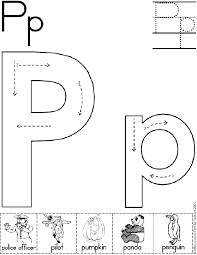Awesome Collection of Preschool Letter P Worksheets For Reference ...