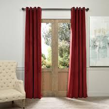 exclusive fabrics burdy grommet velvet blackout curtain panel