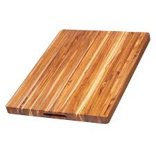 Teak Cutting Board - Rectangle Carving Board With Hand Grip (24 x 18 x 1.5
