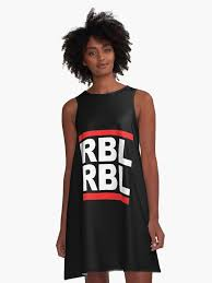 david bowie rebel rebel shirts gifts a line dress by sqwear redbubble
