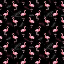 Flamingo Pattern New Retro Seamless Flamingo Pattern Background By Yganko GraphicRiver