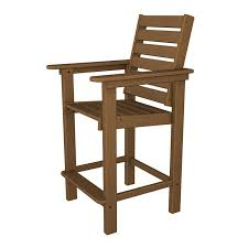outdoor counter height arm chair polywood weatherproof dining