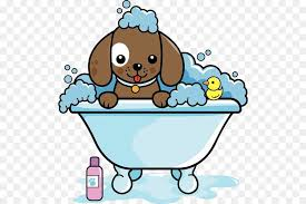 dog grooming cat clip art a puppy sprawled on a bathtub
